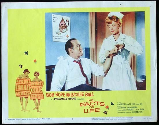 THE FACTS OF LIFE 1961 Lucille Ball Bob Hope Lobby card 3
