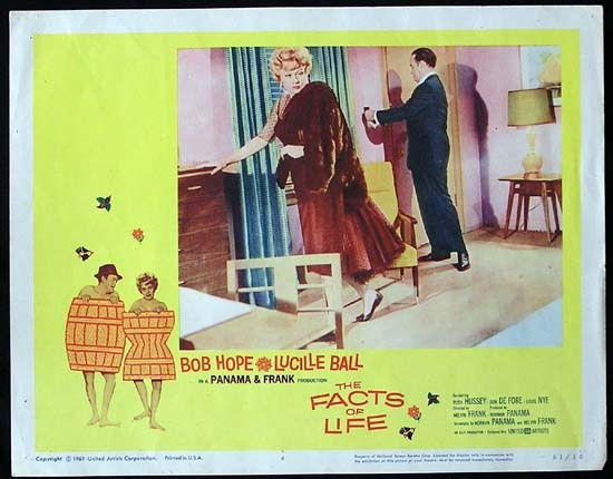 THE FACTS OF LIFE 1961 Lucille Ball Bob Hope Lobby card 4