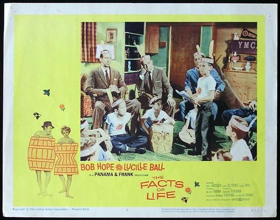 THE FACTS OF LIFE 1961 Lucille Ball Bob Hope Lobby card 5