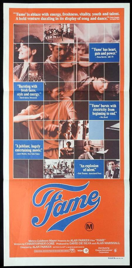 FAME Original Daybill Movie Poster Eddie Barth Irene Cara
