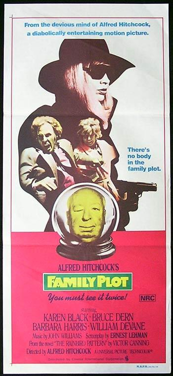 FAMILY PLOT Original Daybill Movie Poster Alfred Hitchcock