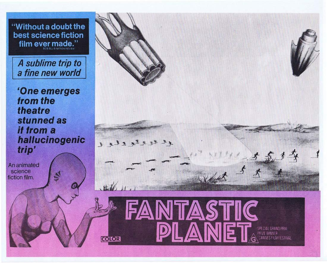 FANTASTIC PLANET Rare Australian Lobby Card 7 Animated Science Fiction