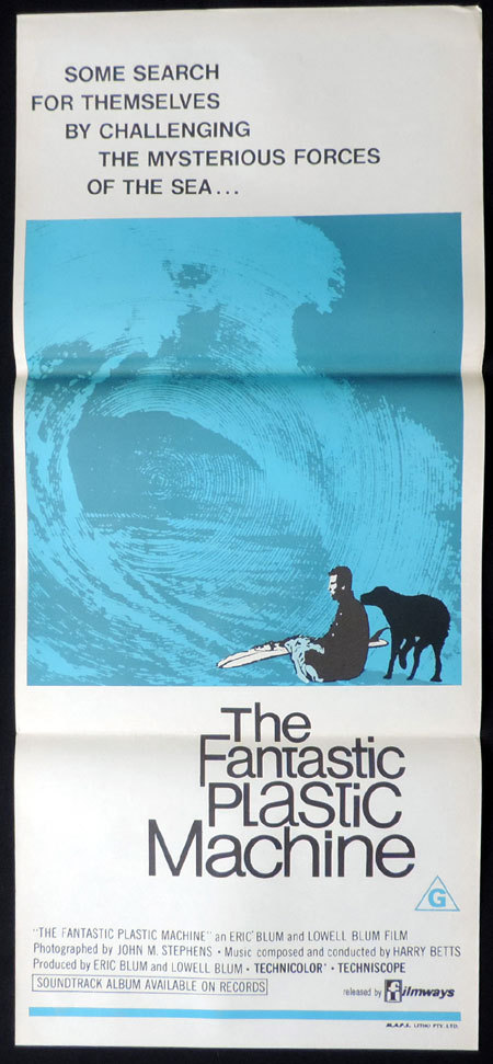 THE FANTASTIC PLASTIC MACHINE Daybill Movie Poster SURFING