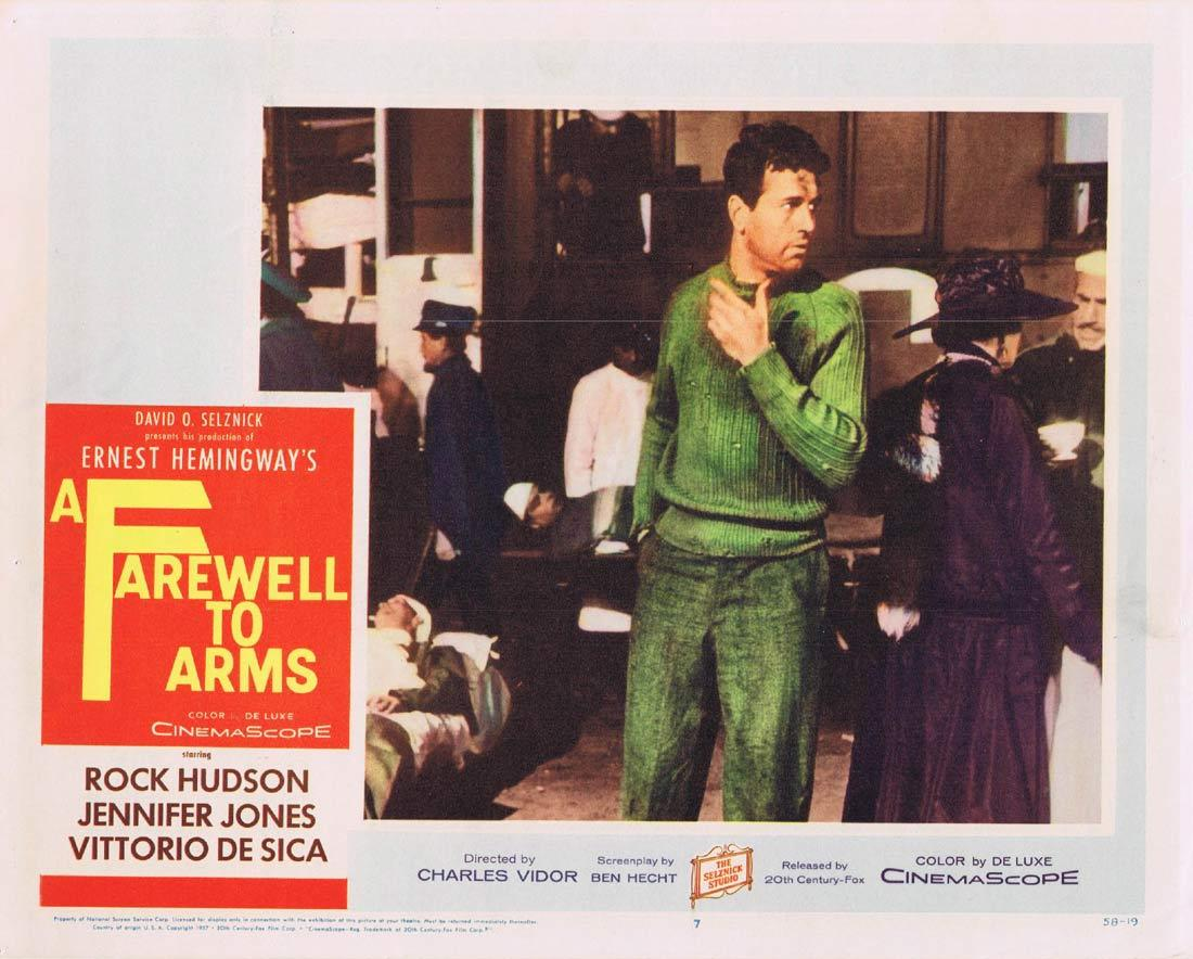 A Farewell to Arms, Charles Vidor, Rock Hudson Jennifer Jones Elaine Stritch