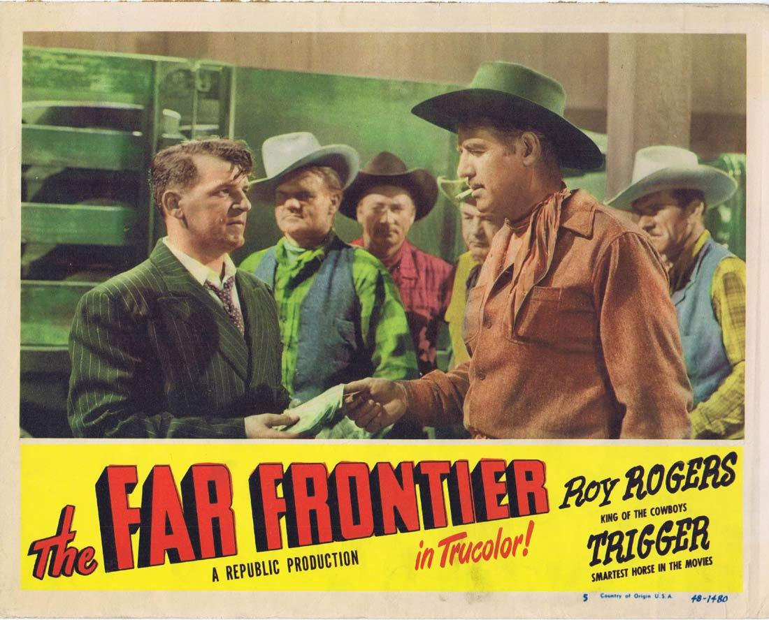 THE FAR FRONTIER Original Lobby Card 6 Rex Allen Mary Ellen Kay Buddy Ebsen
