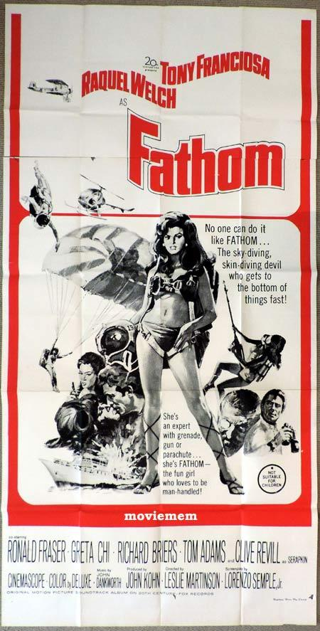 FATHOM Original 3 Sheet Movie Poster Raquel Welch