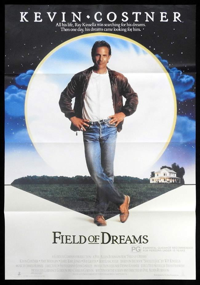 FIELD OF DREAMS Original One sheet Movie Poster Kevin Costner Baseball