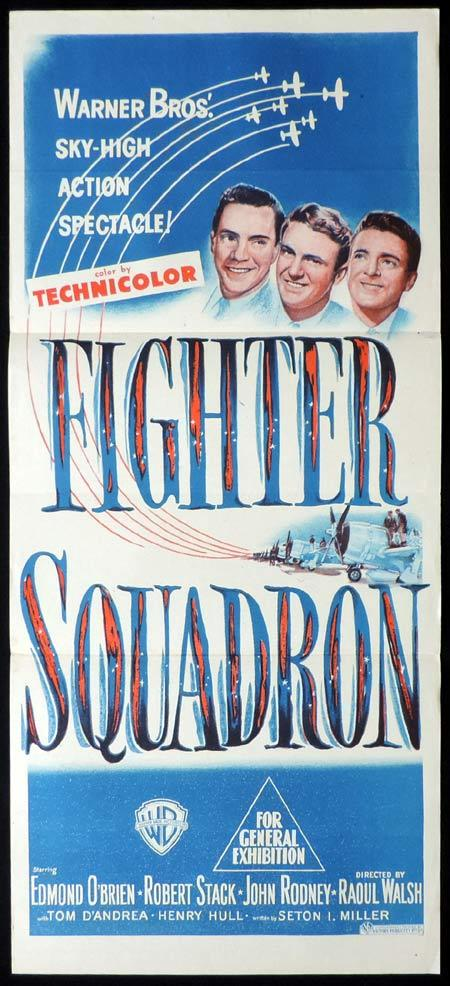 FIGHTER SQUADRON Original Daybill Movie Poster Edmond O'Brien Robert Stack