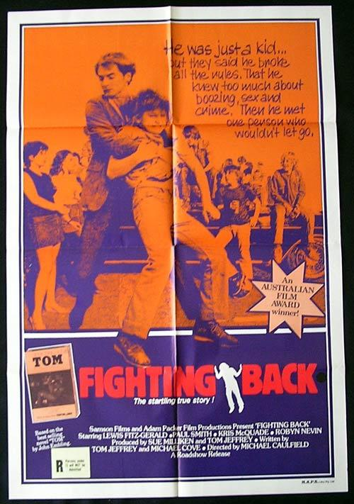 FIGHTING BACK '82 Lewis Fitz-Gerald AUSTRALIAN CINEMA Rare 1 sheet poster