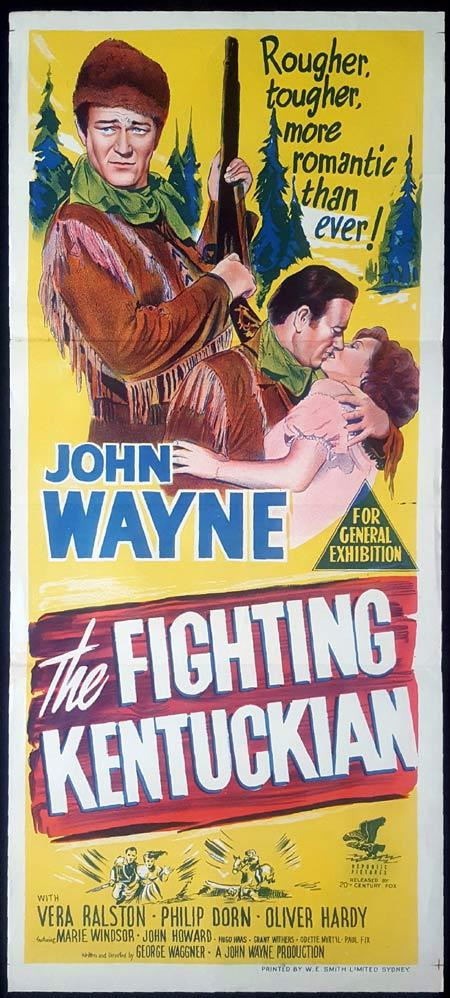 THE FIGHTING KENTUCKIAN Original Daybill Movie Poster John Wayne