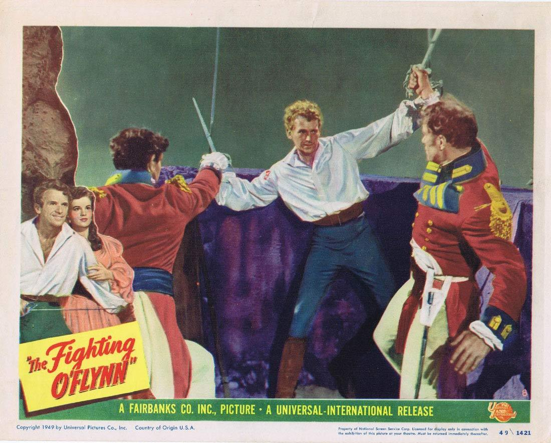 THE FIGHTING O'FLYNN Lobby Card 8 Douglas Fairbanks Jr. Helena Carter