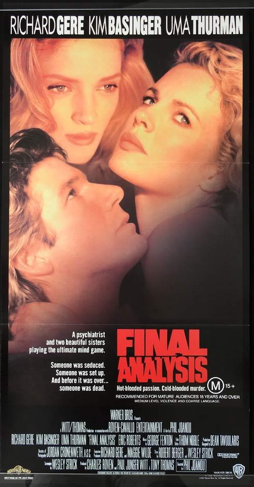 FINAL ANALYSIS Daybill Movie Poster RICAHRD GERE Kim Basinger