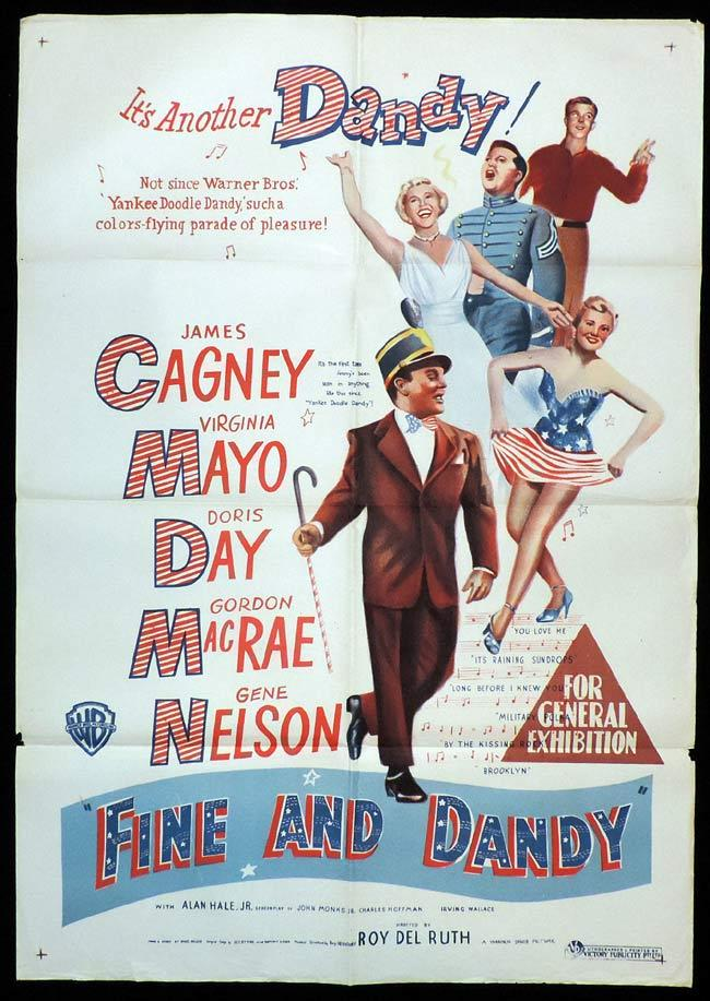 FINE AND DANDY aka WEST POINT STORY Original One sheet Movie Poster JAMES CAGNEY