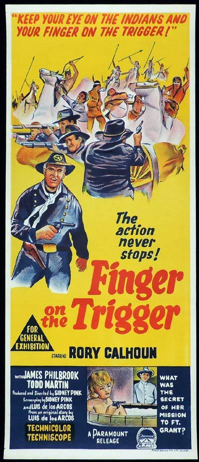 FINGER ON THE TRIGGER Original Daybill Movie Poster Rory Calhoun Western