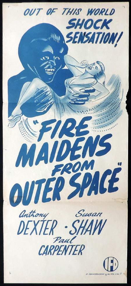 FIRE MAIDENS of OUTER SPACE Original daybill Movie poster Anthony Dexter Sci FI