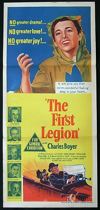THE FIRST LEGION daybill Movie poster Charles Boyer Barbara Rush