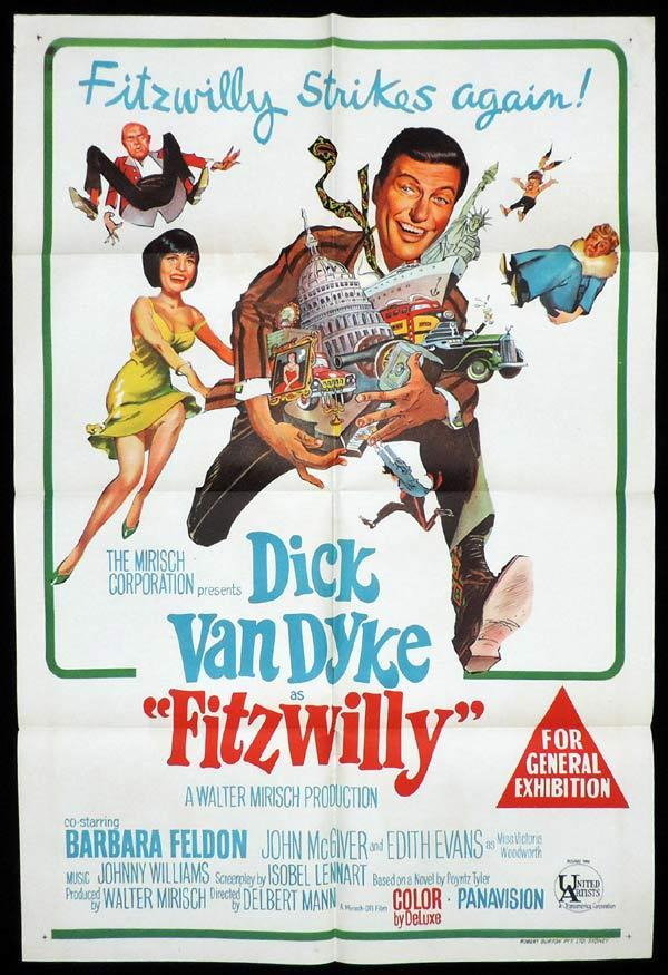 FITZWILLY One Sheet Movie Poster Dick Van Dyke
