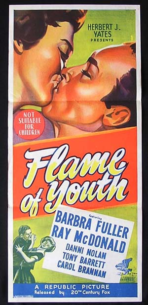 FLAME OF YOUTH Daybill Movie poster 1949 Barbara Fuller