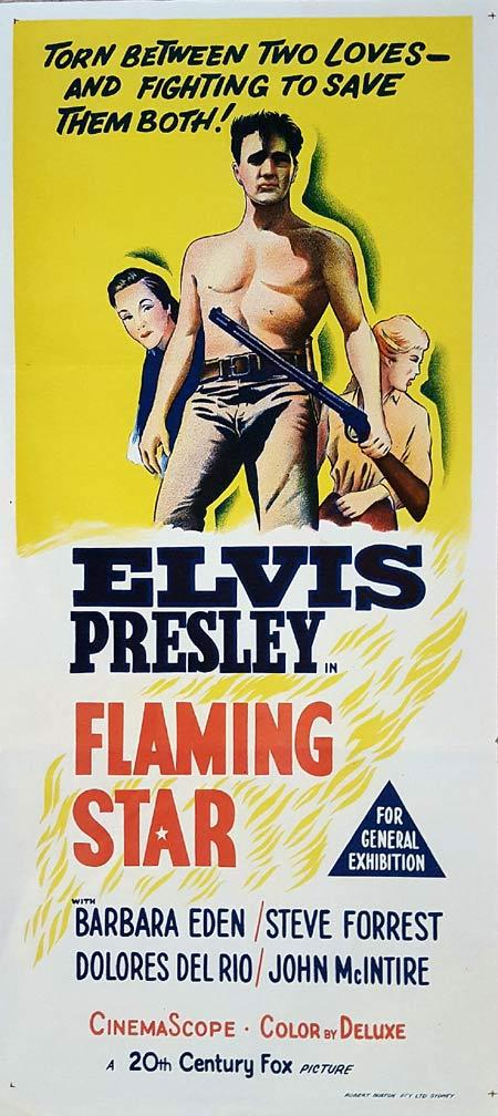 FLAMING STAR Original Daybill Movie Poster Elvis Presley