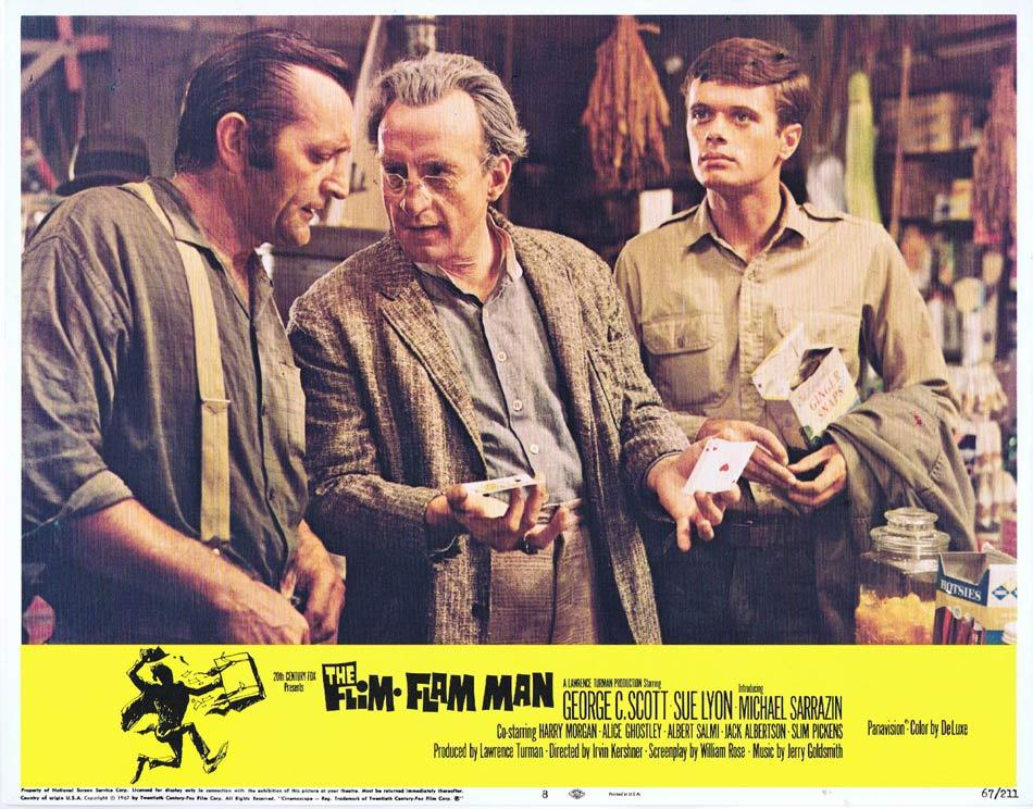 THE FLIM FLAM MAN Lobby Card 8 George C. Scott Michael Sarrazin Sue Lyon