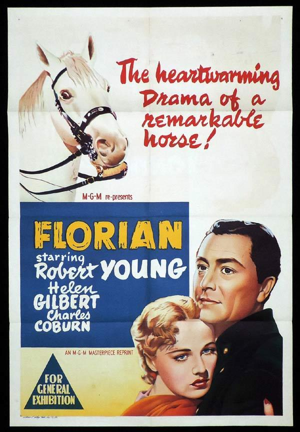 FLORIAN One Sheet Movie Poster 1950s Robert Young Lee Bowman