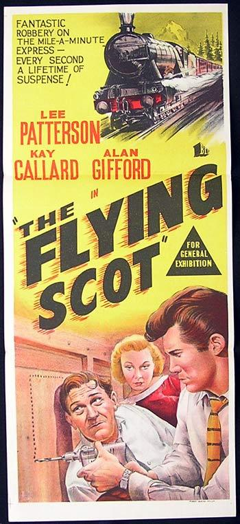 THE FLYING SCOT Daybill Movie poster 1957 Honor Blackman Film Noir