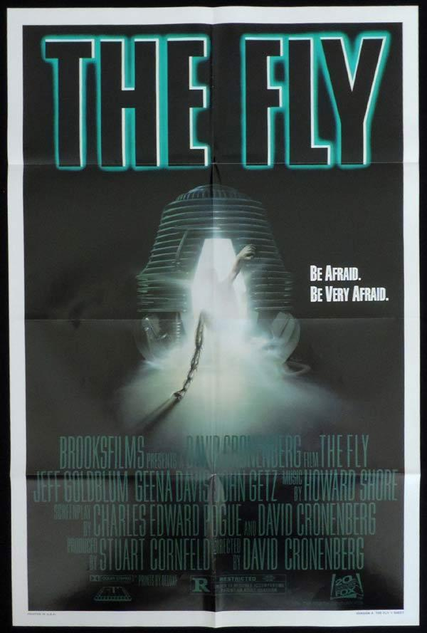 THE FLY US One Sheet Movie Poster David Cronenberg Jeff Goldblum