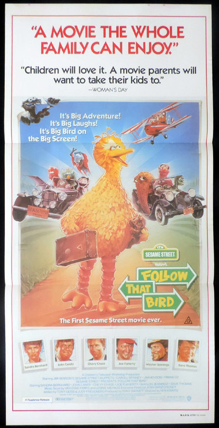 FOLLOW THAT BIRD Sesame Street Original Daybill Movie poster