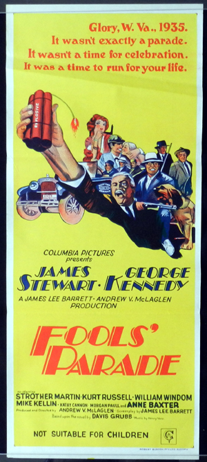 FOOLS PARADE Australian Daybill Movie Poster James Stewart