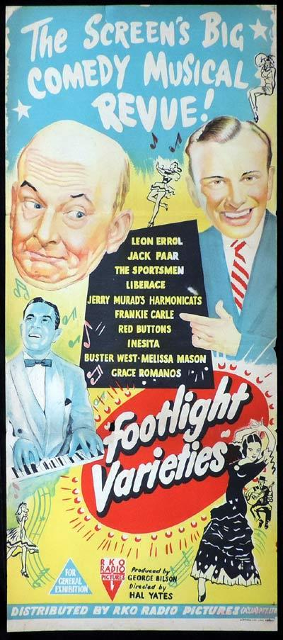 FOOTLIGHT VARIETIES Original Daybill Movie Poster Kon Tiki expedition Thor Heyerdahl