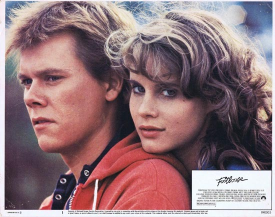 FOOTLOOSE 1984 Lobby Card 2 Kevin Bacon Lori Singer