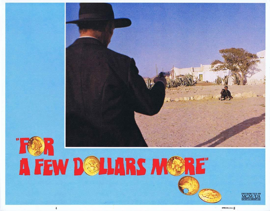 FOR A FEW DOLLARS MORE Lobby Card 4 Clint Eastwood Sergio Leone