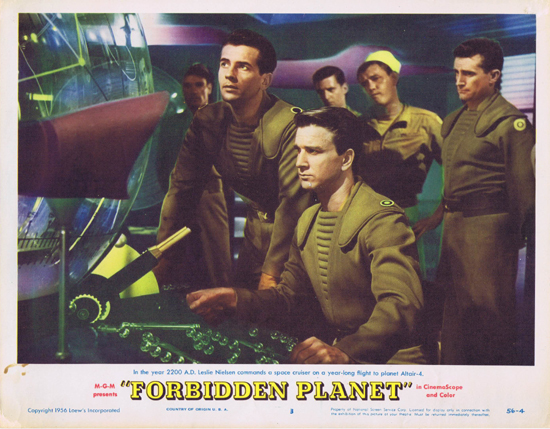 FORBIDDEN PLANET 1956 Lobby Card 3 Robby the Robot