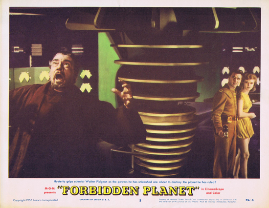 FORBIDDEN PLANET 1956 Lobby Card 5 Robby the Robot