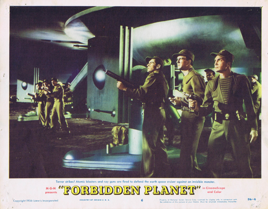 FORBIDDEN PLANET 1956 Lobby Card 6 Robby the Robot