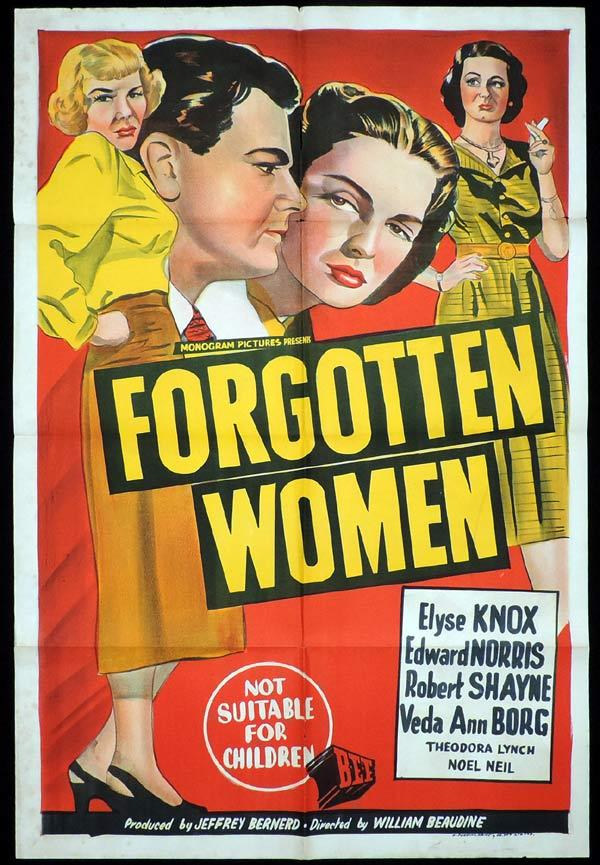 FORGOTTEN WOMEN One Sheet Movie Poster Elyse Knox