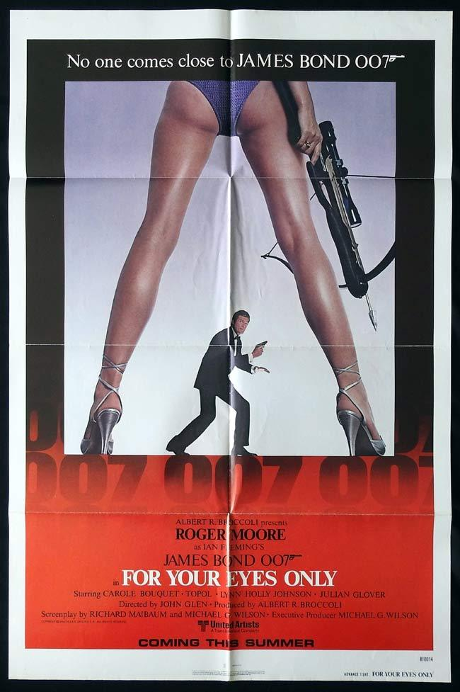 FOR YOUR EYES ONLY Original One sheet Movie poster Roger Moore James Bond
