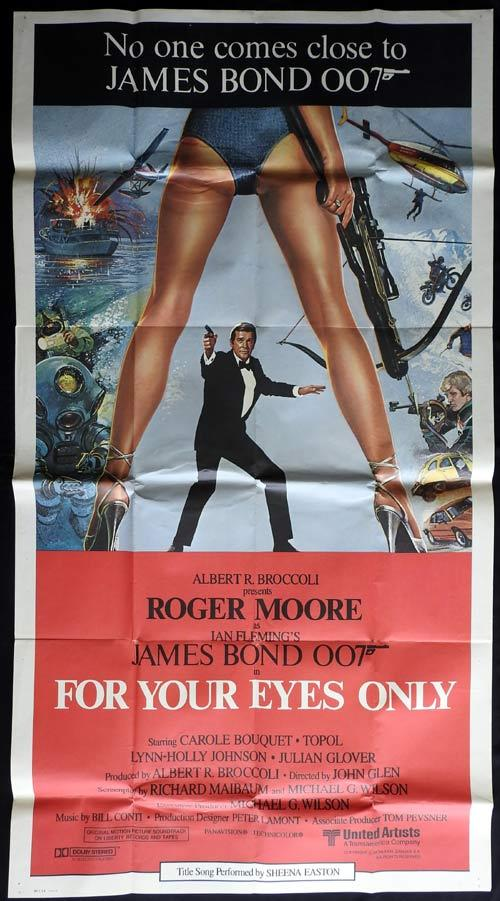 FOR YOUR EYES ONLY Three sheet Movie poster Roger Moore James Bond