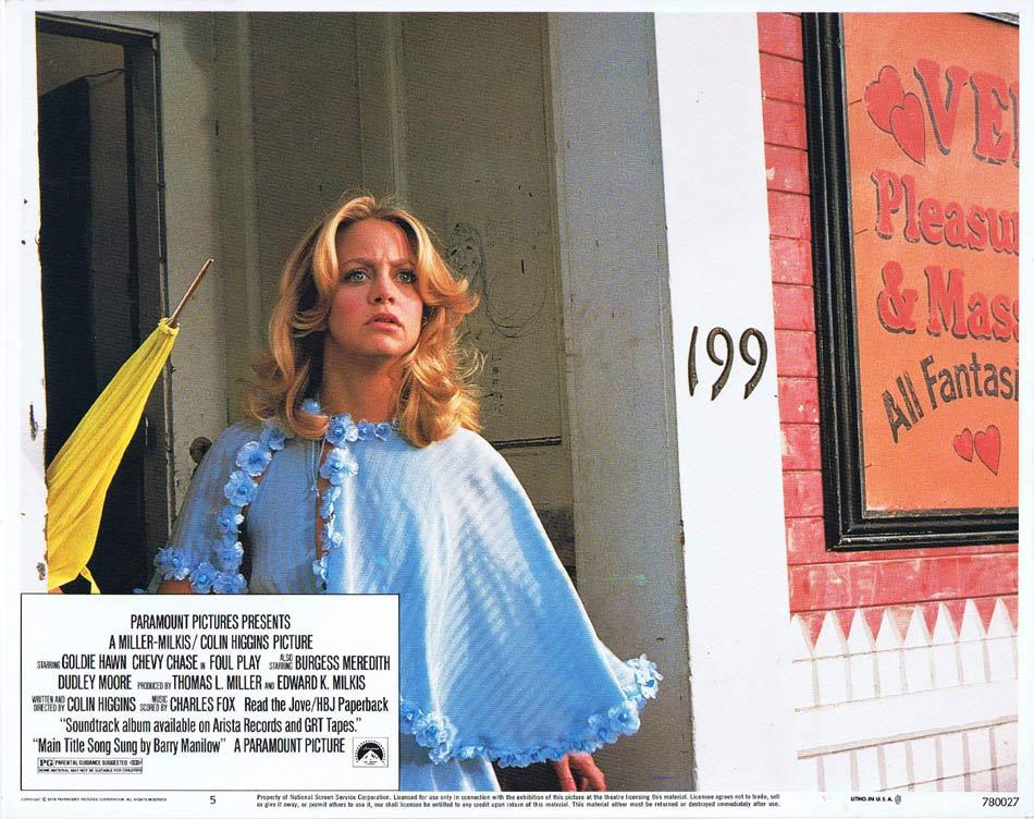 FOUL PLAY Lobby Card 5 Goldie Hawn Chevy Chase Burgess Meredith