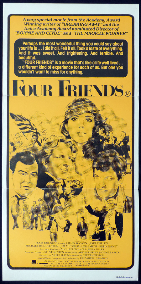 FOUR FRIENDS Original Daybill Movie poster Craig Wasson Jodie Thelen