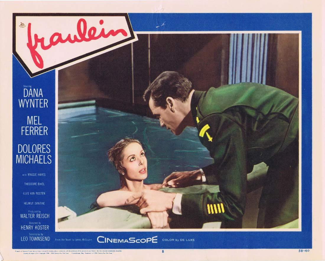 FRAULEIN Lobby Card 8 Dana Wynter Mel Ferrer Dolores Michaels