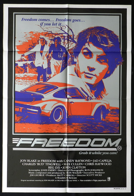 FREEDOM Movie Poster 1982 Jon Blake Australian One sheet