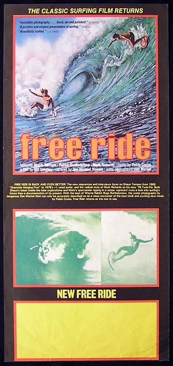NEW FREE RIDE Daybill Movie Poster SURFING