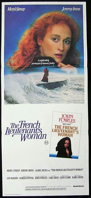 THE FRENCH LIEUTENANTS WOMAN '81 Australian daybill Movie poster