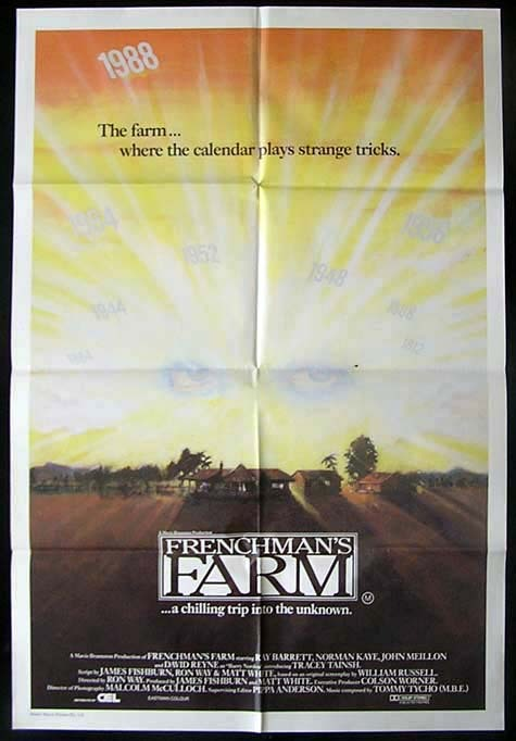 FRENCHMAN'S FARM Movie Poster 1987 Ray Barrett Australian One sheet Movie poster