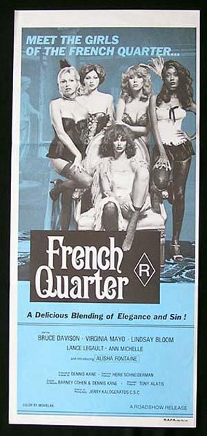 FRENCH QUARTER '77-Virginia Mayo-Bruce Davison daybill