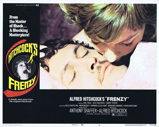 FRENZY 1972 Alfred Hitchcock Jon Finch ORIGINAL US Lobby Card 4