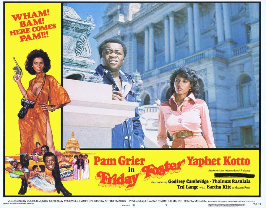 FRIDAY FOSTER Lobby Card 5 Blaxploitation Pam Grier