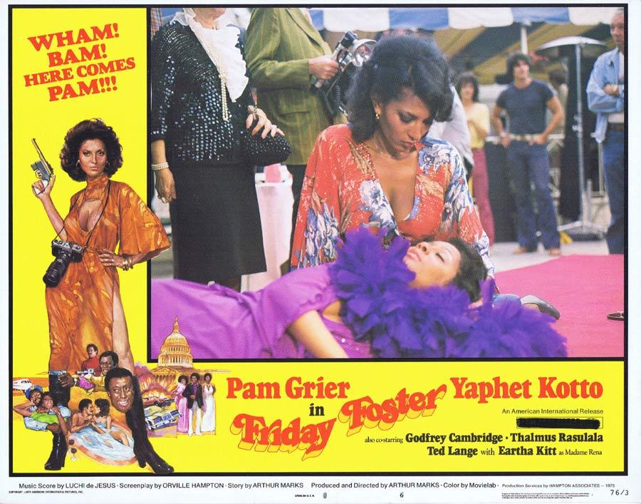 FRIDAY FOSTER Lobby Card 6 Blaxploitation Pam Grier