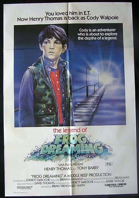 FROG DREAMING '86 Henry Thomas AUSTRALIAN CINEMA One sheet Movie poster